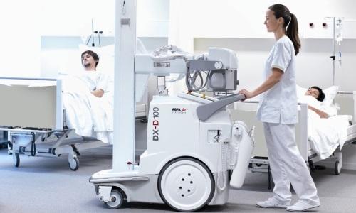 Мобильный рентгеновский аппарат для обследования